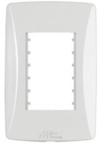 Placa 3 Módulos Horizontais 4×2 Petra 82003