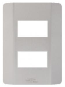 Placa 2 Módulos Distanciados 4×2 Petra 82004
