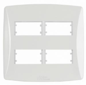 Placa 4 Módulos Distanciados 4×4 Petra 82044